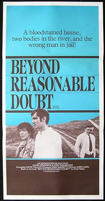 BEYOND REASONABLE DOUBT Original Daybill Movie Poster  David Hemmings
