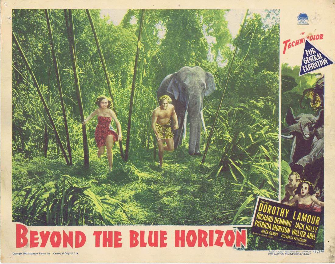 BEYOND THE BLUE HORIZON Lobby Card Dorothy Lamour Richard Denning Jack Haley