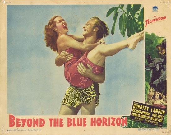 BEYOND THE BLUE HORIZON Lobby Card 2 Dorothy Lamour Richard 1942 Denning
