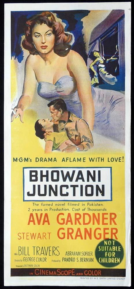 BHOWANI JUNCTION Original Daybill Movie Poster Ava Gardner Stewart Granger