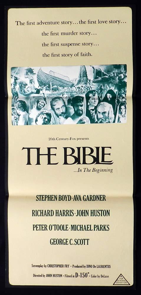THE BIBLE Original Daybill Movie Poster Stephen Boyd Ava Gardner Peter O'Toole