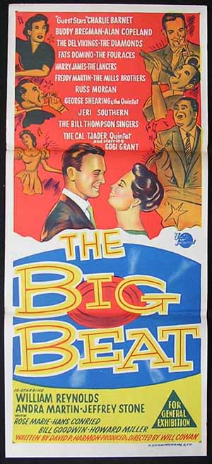 THE BIG BEAT Original Daybill Movie poster Jazz Fats Domino