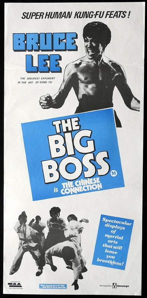THE BIG BOSS CHINESE CONNECTION Original Daybill Movie Poster Bruce Lee Kung Fu Martial Arts