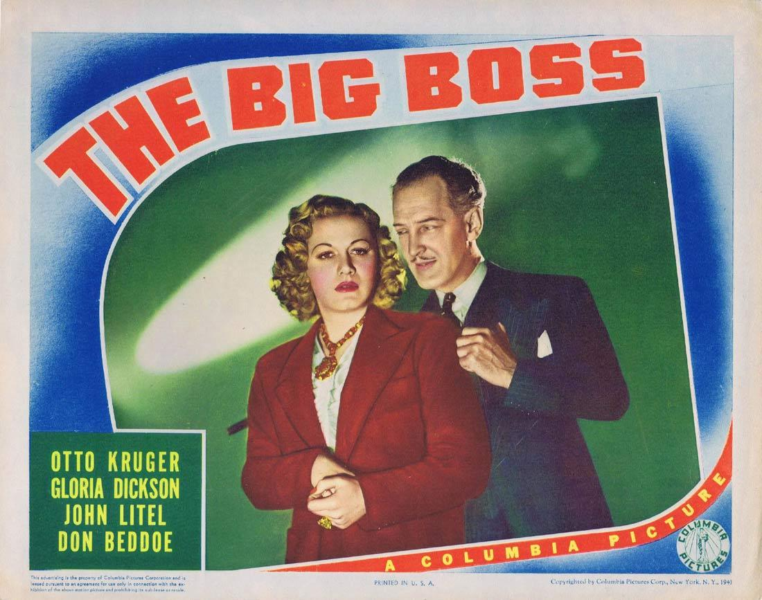THE BIG BOSS Lobby Card 4 Otto Kruger Gloria Dickson John Litel,