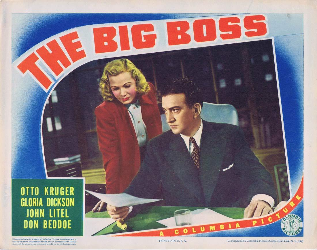 THE BIG BOSS Lobby Card 2 Otto Kruger Gloria Dickson John Litel,