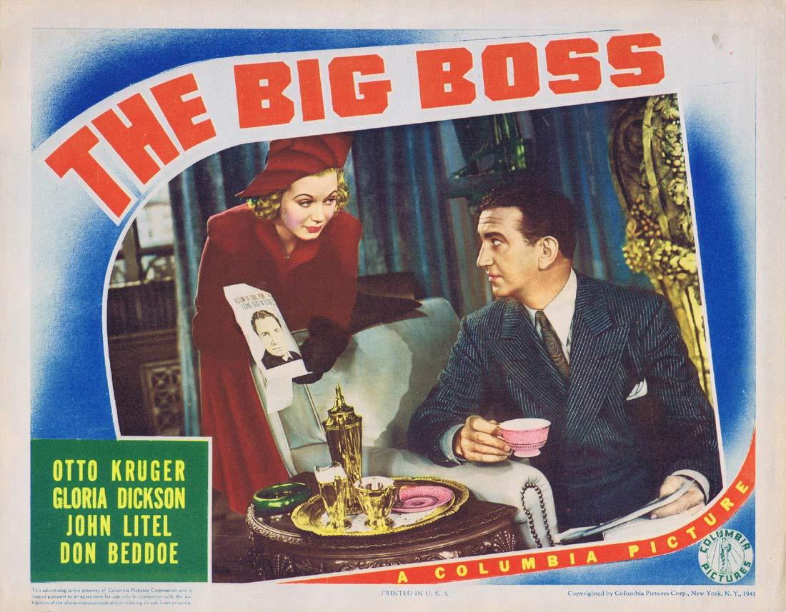 THE BIG BOSS Lobby Card 3 Otto Kruger Gloria Dickson John Litel,