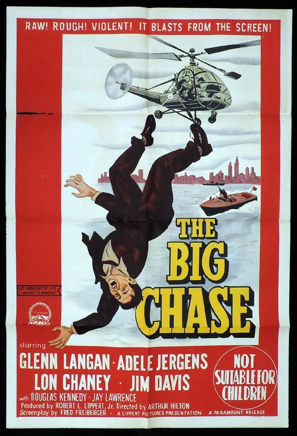 THE BIG CHASE One Sheet Movie Poster Glenn Langan  Film Noir