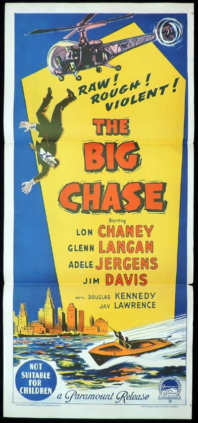 THE BIG CHASE Daybill Movie Poster Richardson Studio