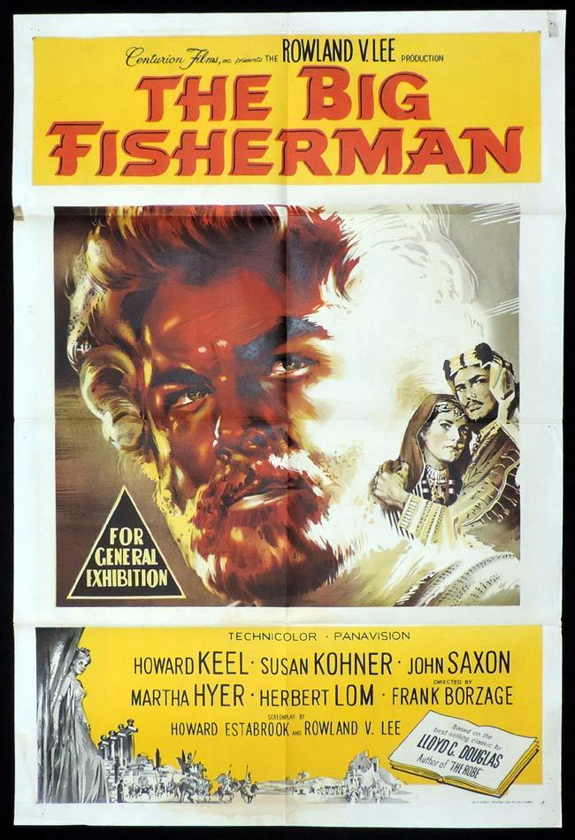 THE BIG FISHERMAN One Sheet Movie Poster Howard Keel Saint Peter