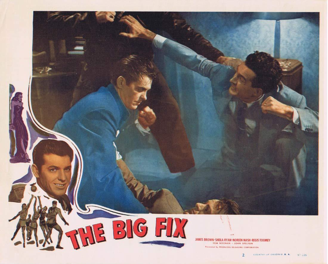 THE BIG FIX Original Lobby Card 2 Sheila Ryan GAMBLING James Brown