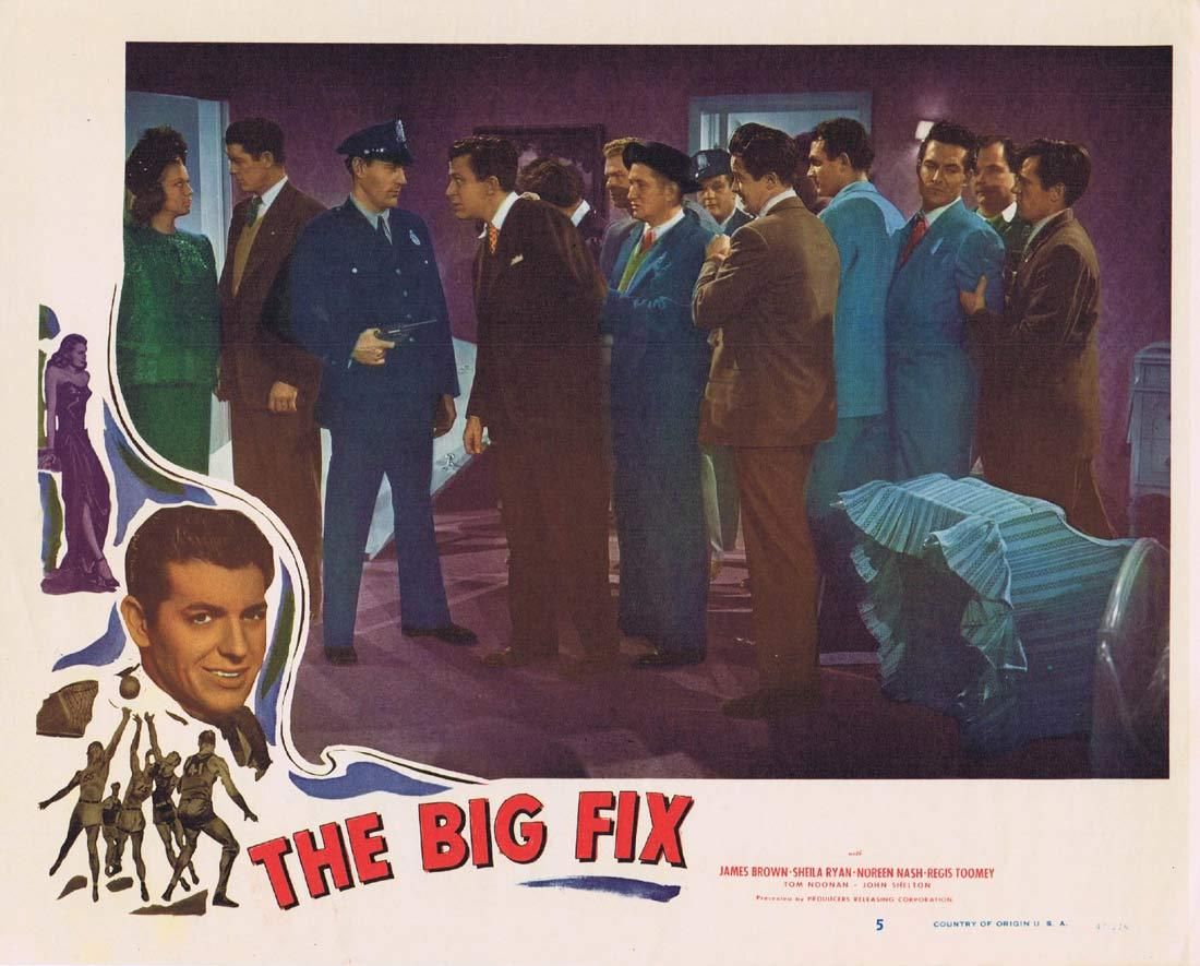 THE BIG FIX Original Lobby Card 5 Sheila Ryan GAMBLING James Brown