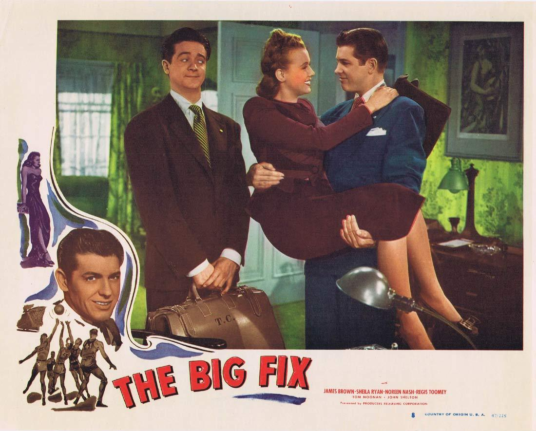 THE BIG FIX Original Lobby Card 8 Sheila Ryan GAMBLING James Brown