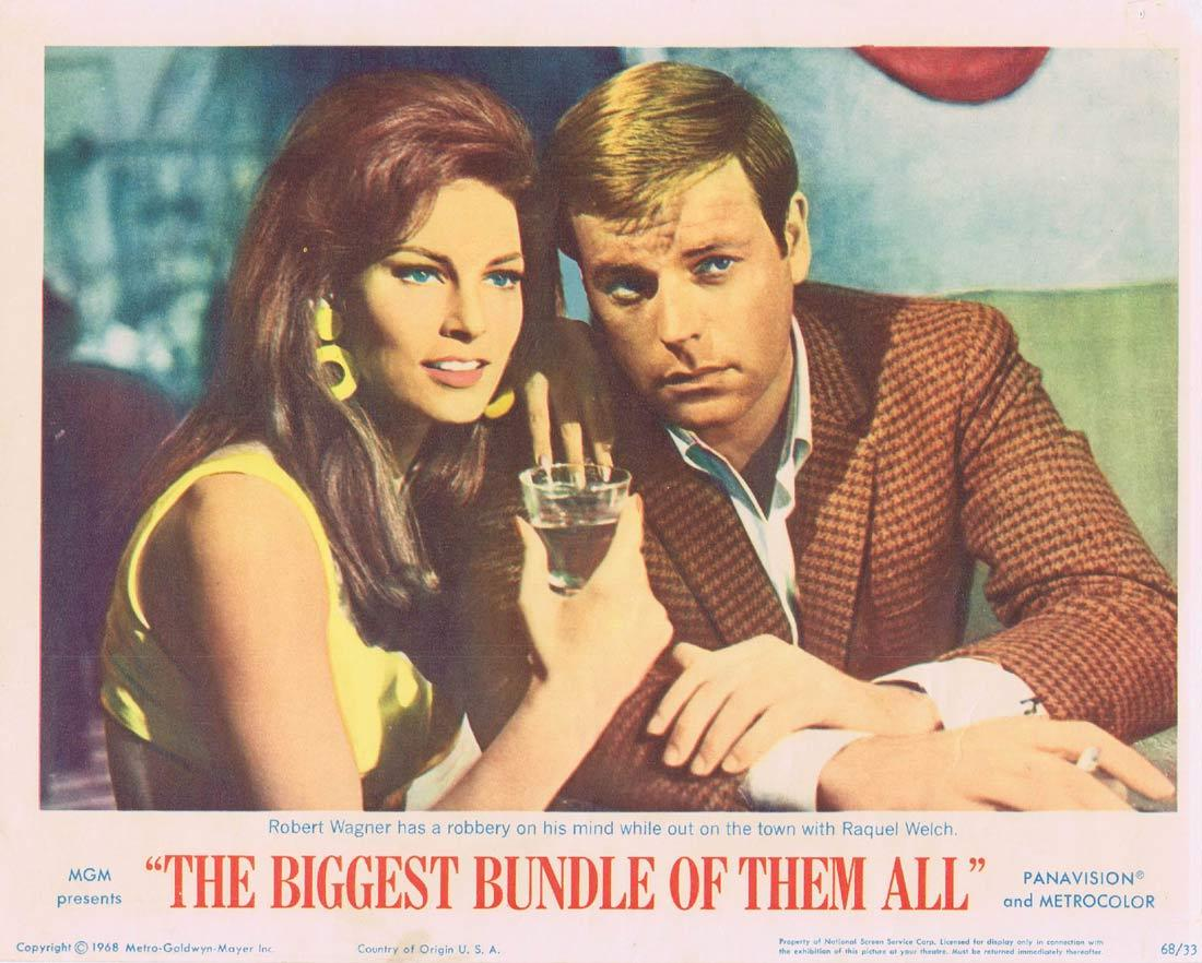 THE BIGGEST BUNDLE OF THEM ALL Lobby Card 3 Robert Wagner Raquel Welch Edward G.Robinson
