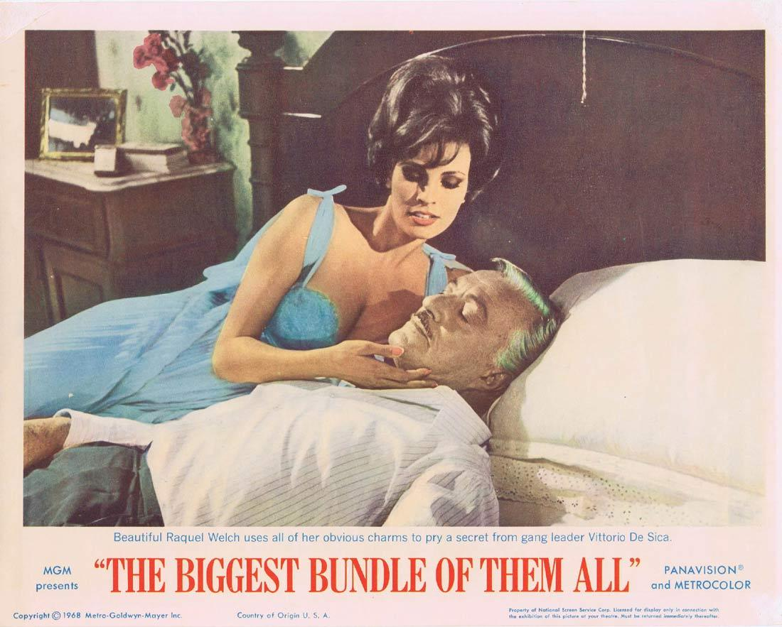 THE BIGGEST BUNDLE OF THEM ALL Lobby Card 6 Robert Wagner Raquel Welch Edward G.Robinson