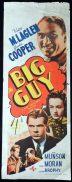 THE BIG GUY Movie Poster 1939 Victor McLaglen RARE Long daybill