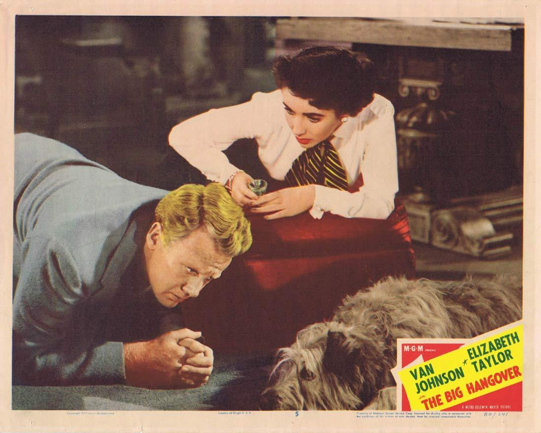 THE BIG HANGOVER Original Lobby Card 5 Van Johnson Elizabeth Taylor