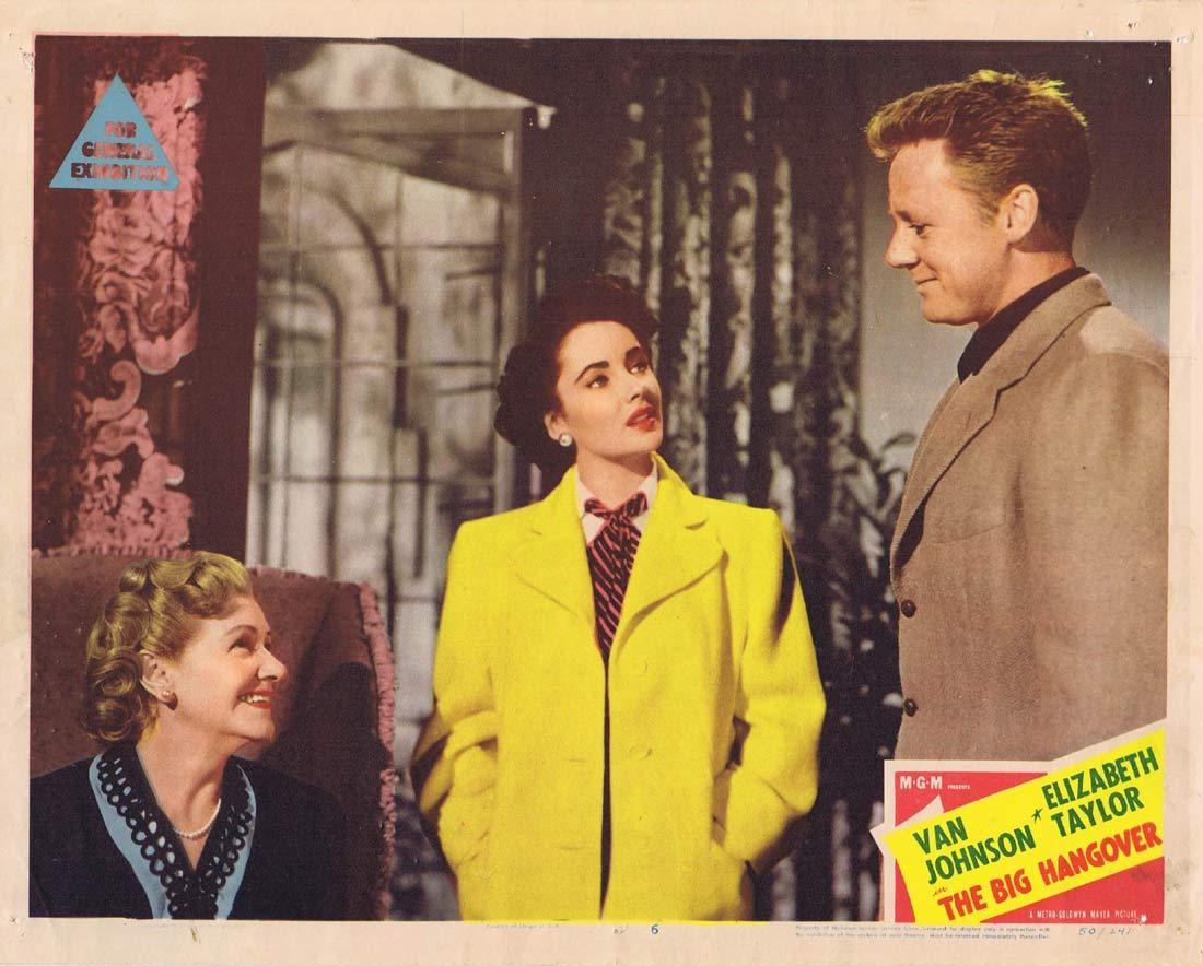 THE BIG HANGOVER Original Lobby Card 6 Van Johnson Elizabeth Taylor