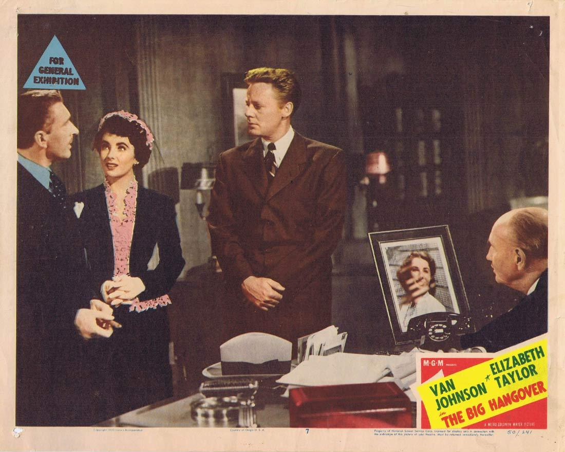 THE BIG HANGOVER Original Lobby Card 7 Van Johnson Elizabeth Taylor