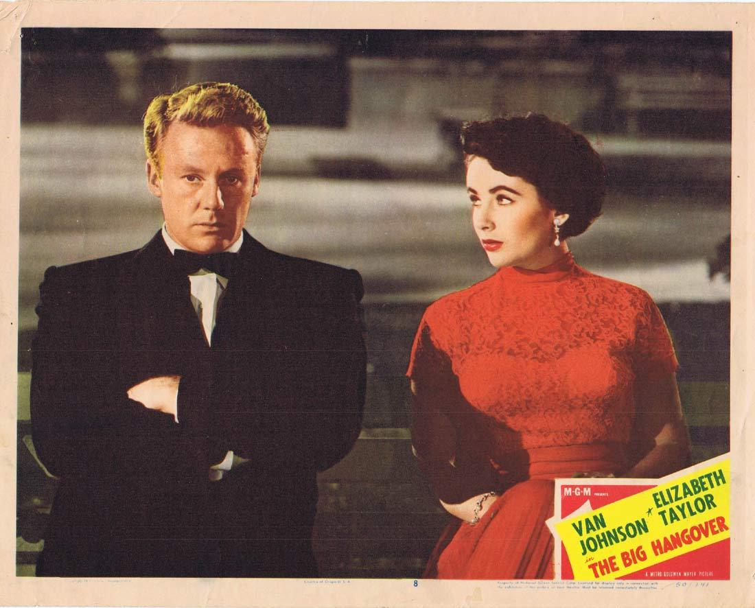 THE BIG HANGOVER Original Lobby Card 8 Van Johnson Elizabeth Taylor