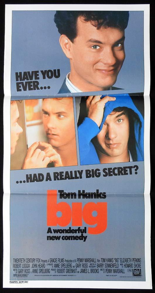 BIG Original Daybill Movie poster Tom Hanks Elizabeth Perkins