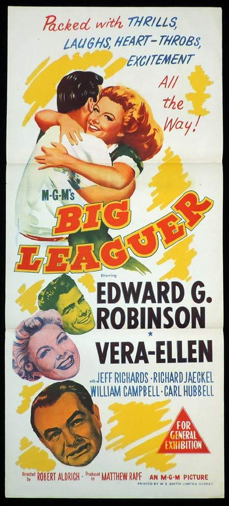 BIG LEAGUER Original Daybill Movie Poster Edward G. Robinson Vera-Ellen Jeff Richards