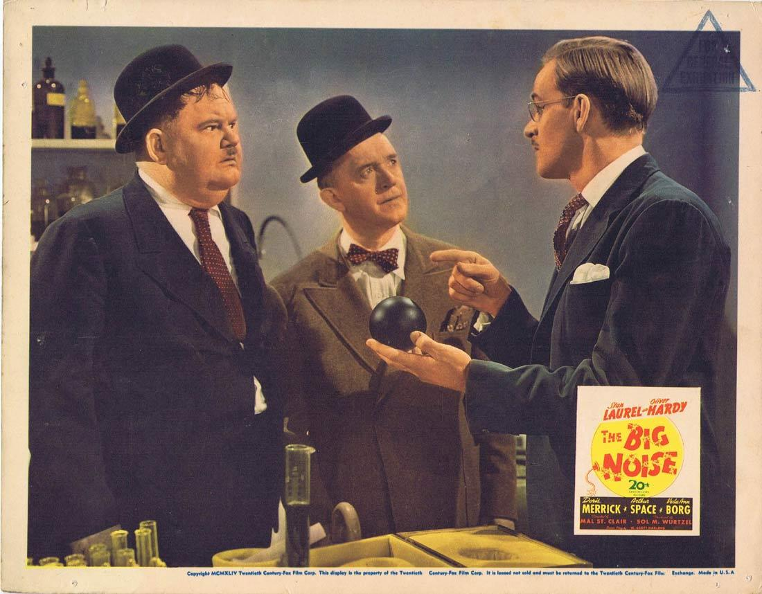 THE BIG NOISE 1944 Lobby Card 2 Laurel and Hardy