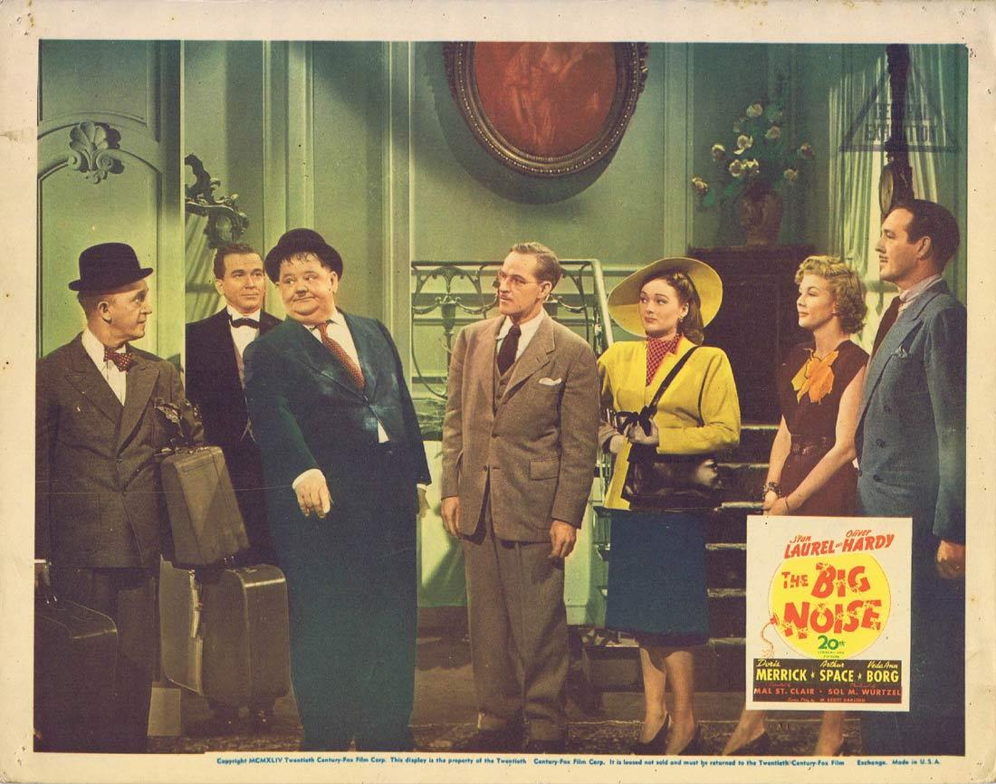 THE BIG NOISE 1944 Lobby Card 4 Laurel and Hardy