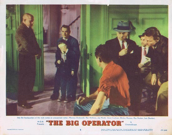 THE BIG OPERATOR 1959 Film Noir Mickey Rooney Lobby Card 8
