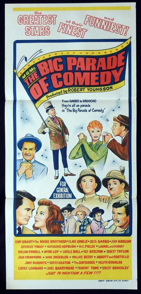 THE BIG PARADE OF COMEDY Original Daybill Movie Poster Laurel and Hardy