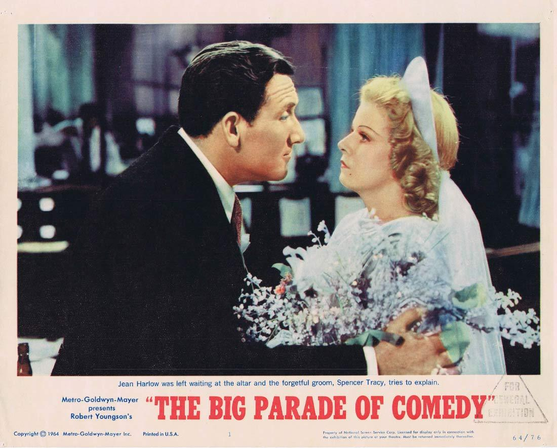 THE BIG PARADE OF COMEDY Original Lobby Card 1 Spencer Tracy Jean Harlow
