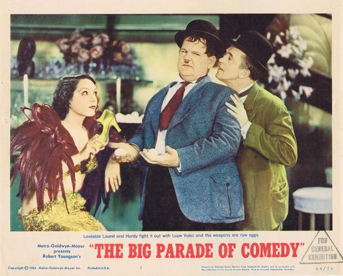 THE BIG PARADE OF COMEDY Original Lobby Card 7 Laurel and Hardy
