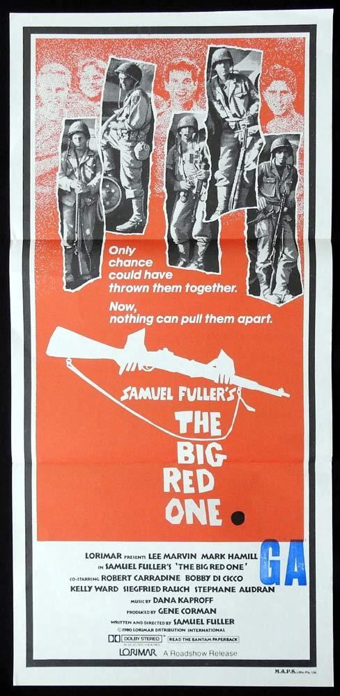 THE BIG RED ONE Original Daybill Movie poster Lee Marvin Mark Hamill Sam Fuller