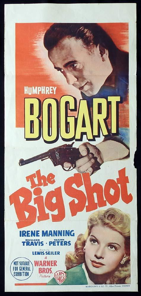 THE BIG SHOT Original Daybill Movie Poster Humphrey Bogart