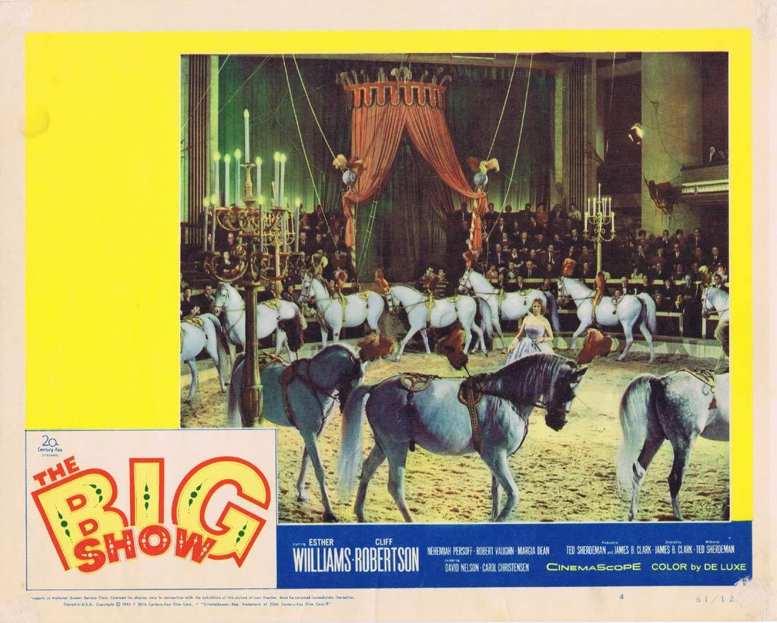 THE BIG SHOW Lobby Card 4 Circus Esther Williams Cliff Robertson Nehemiah Persoff