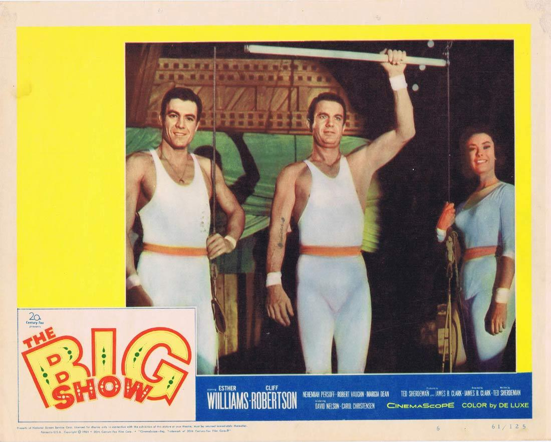 THE BIG SHOW Lobby Card 6 Circus Esther Williams Cliff Robertson Nehemiah Persoff