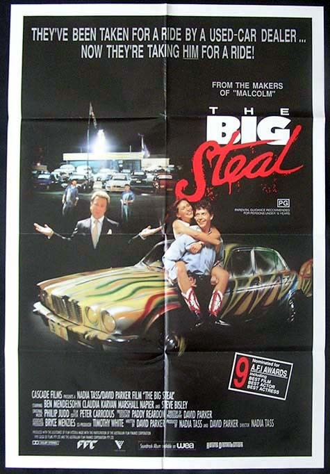 THE BIG STEAL Australian ONE SHEET Movie poster 1990 Nadia Tass