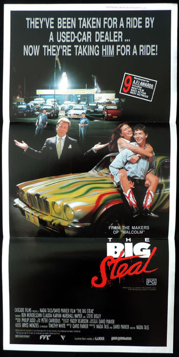 THE BIG STEAL Original Daybill Movie Poster 1990 Nadia Tass