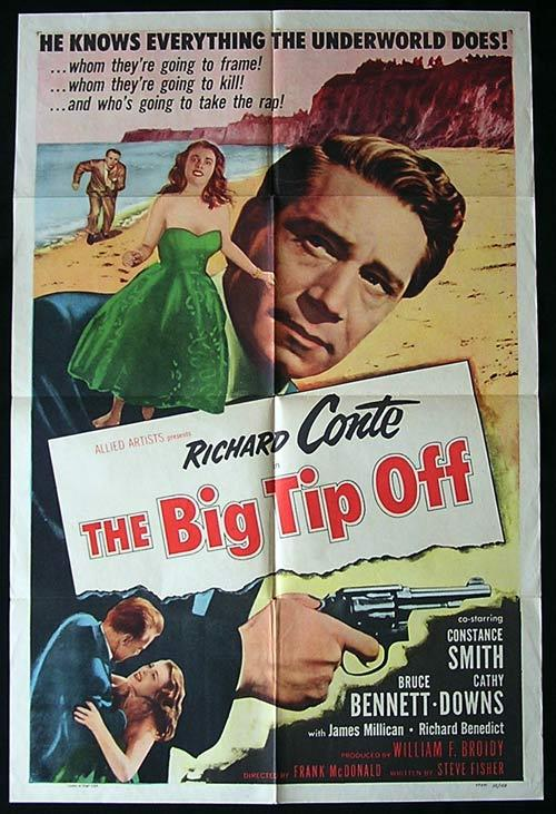 THE BIG TIP OFF Movie Poster 1955 FILM NOIR US One Sheet