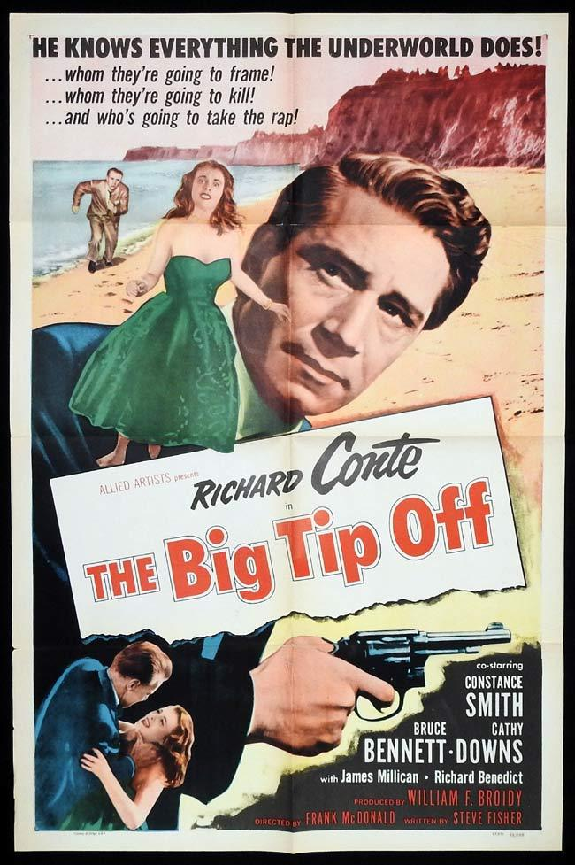 THE BIG TIP OFF Original US One sheet Movie Poster Richard Conte Film Noir