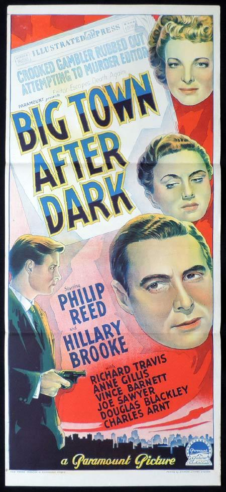 BIG TOWN AFTER DARK Original Daybill Movie Poster PHILLIP REED Hillary Brooke Richardson Studio