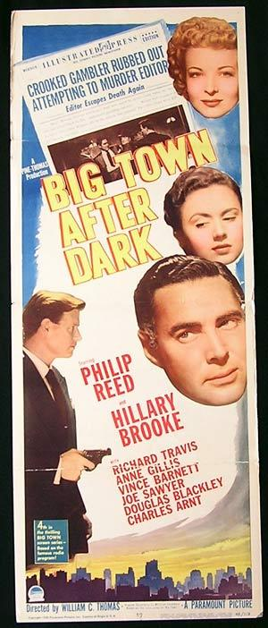 BIG TOWN AFTER DARK US Insert Movie poster Film Noir
