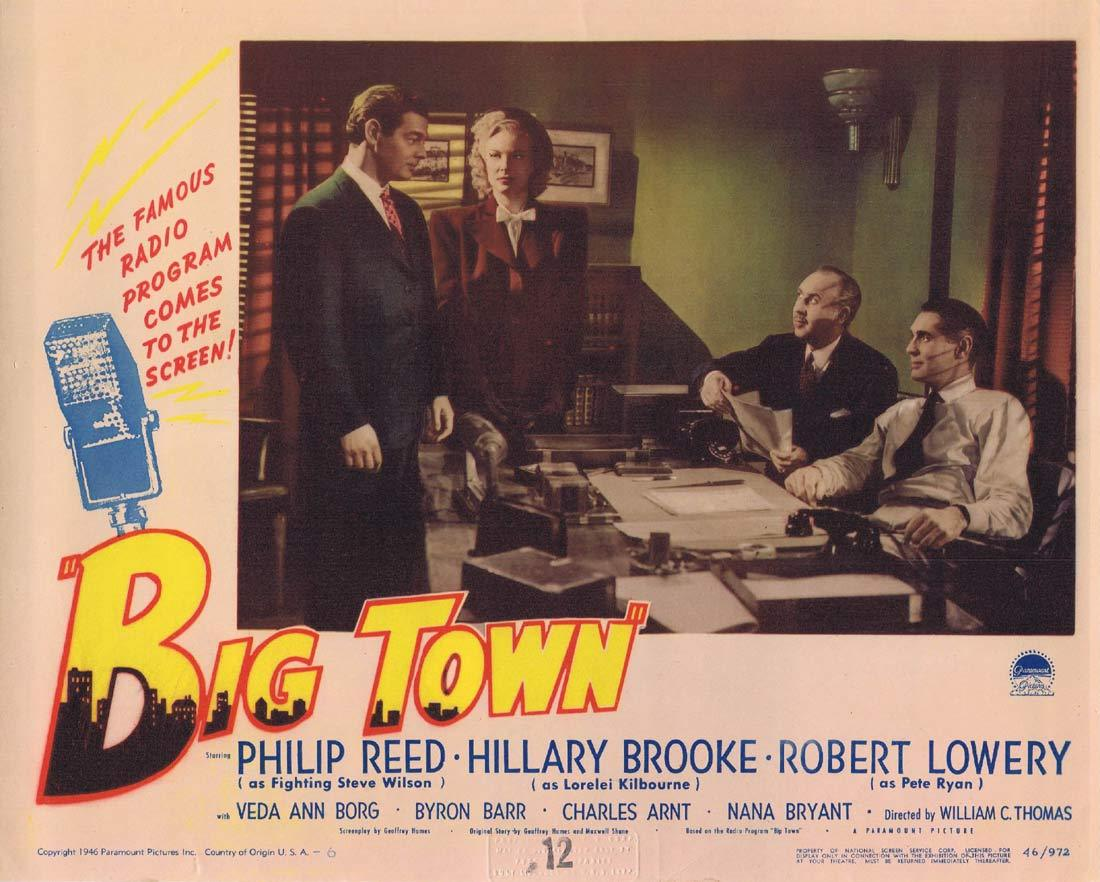 BIG TOWN Lobby Card 2 Phillip Reed Hillary Brooke Radio Microphone
