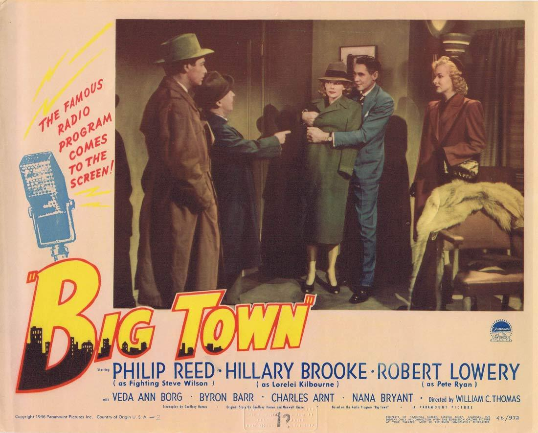BIG TOWN Lobby Card 4 Phillip Reed Hillary Brooke Radio Microphone