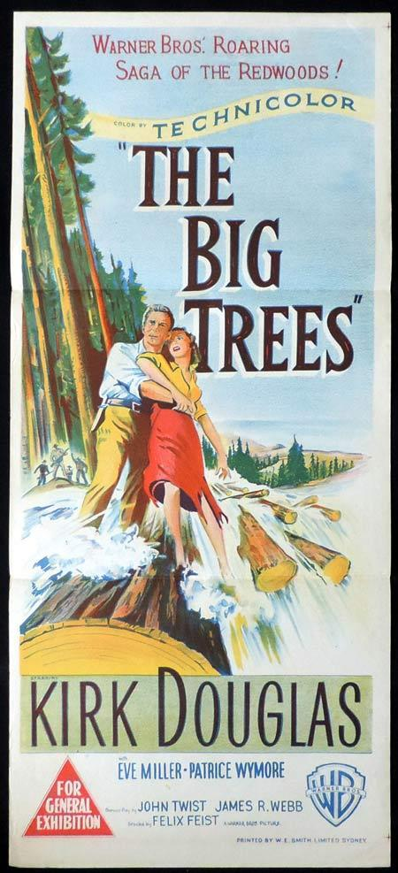 THE BIG TREES Original Daybill Movie Poster Kirk Douglas