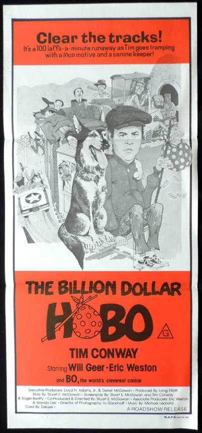 BILLION DOLLAR HOBO Original Daybill Movie poster Tim Conway Will Geer