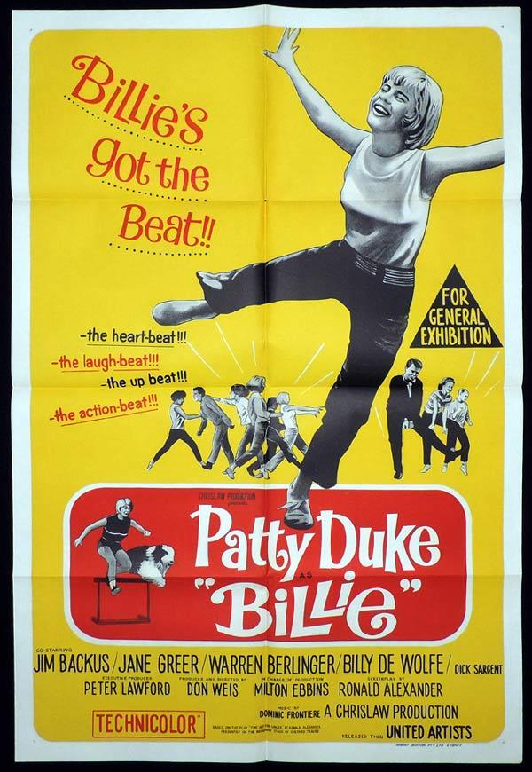 BILLIE One Sheet Movie Poster Patty Duke