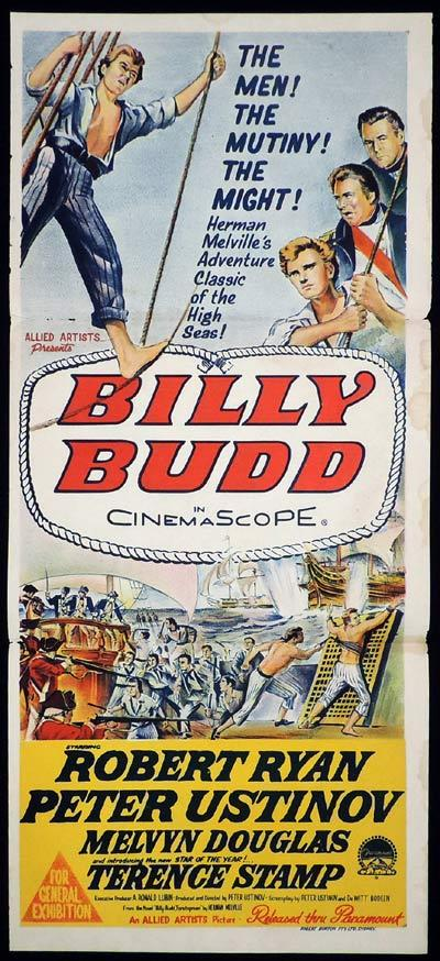 BILLY BUDD Original Daybill Movie Poster Robert Ryan Peter Ustinov