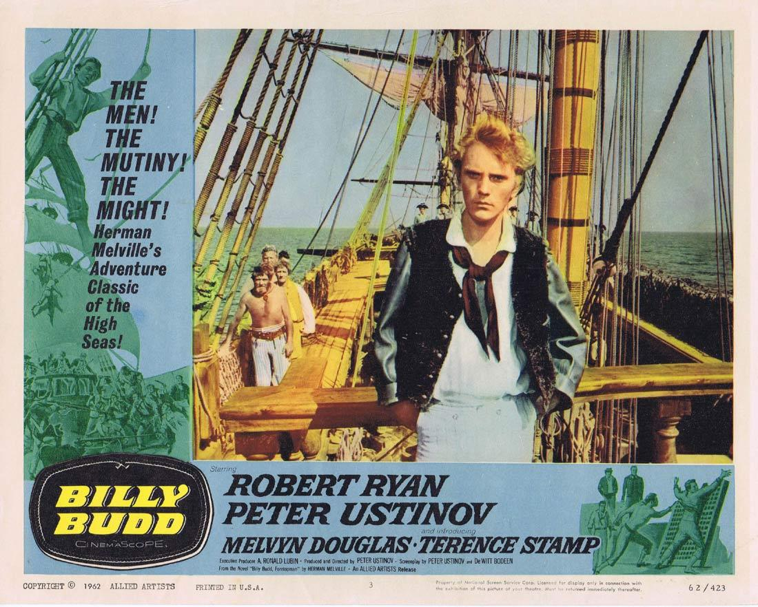 BILLY BUDD Lobby Card 3 Robert Ryan Peter Ustinov Terence Stamp