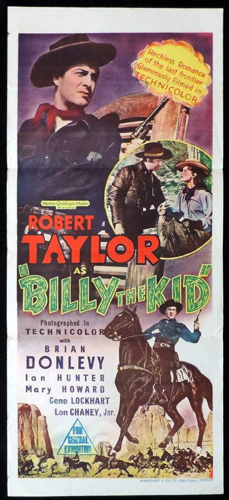 BILLY THE KID Original Daybill Movie Poster Robert Taylor Marchant Graphics