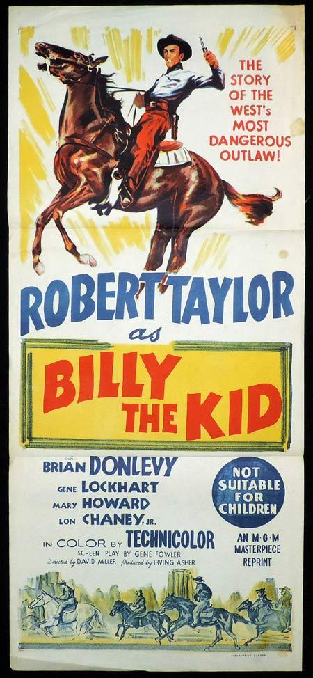 BILLY THE KID Original 50sr Daybill Movie Poster Robert Taylor